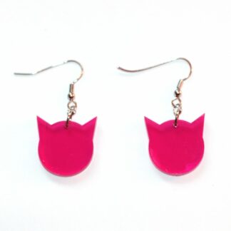 Örhängen Pussyhat mini - Transparent rosa