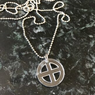 Halsband Earth mini (jord-symbol) - Svart
