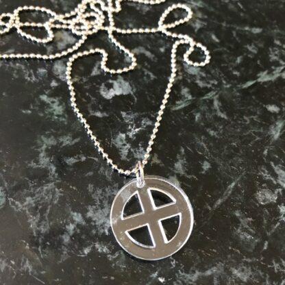 Halsband Earth mini (jord-symbol) - Svart