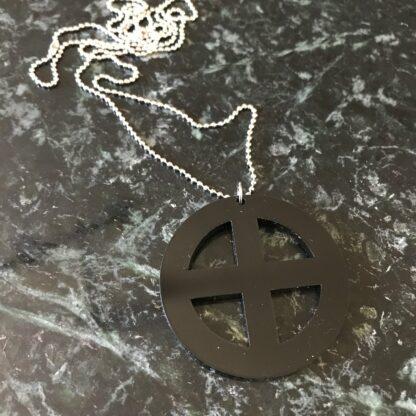 Halsband Earth Stor (symbol för jorden) - Trä