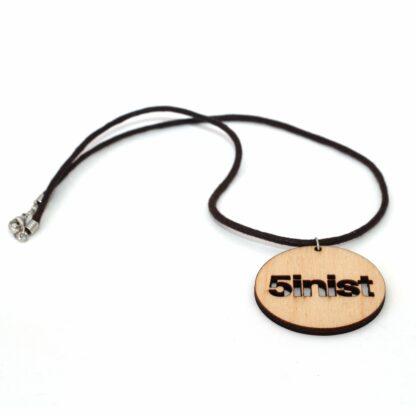 Halsband Feminist Rem - Trä med brun rem