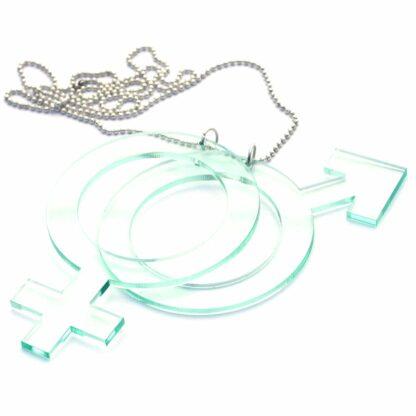 Halsband Hon-Han Stor - Svart
