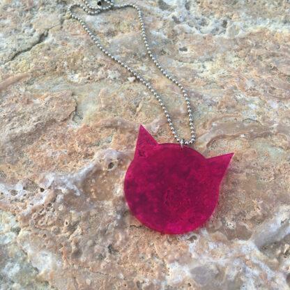 Halsband Pussyhat - Transparent rosa